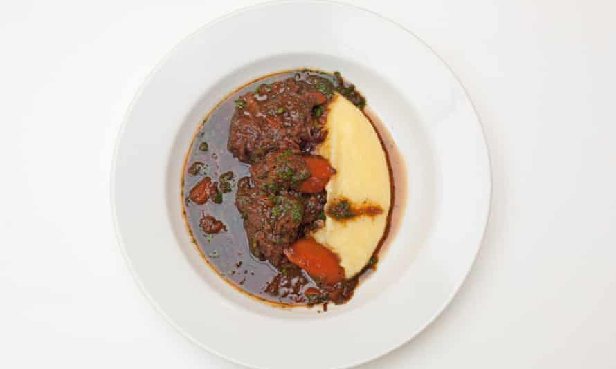 'Sweet and savoury': oxtail and celeriac mash.