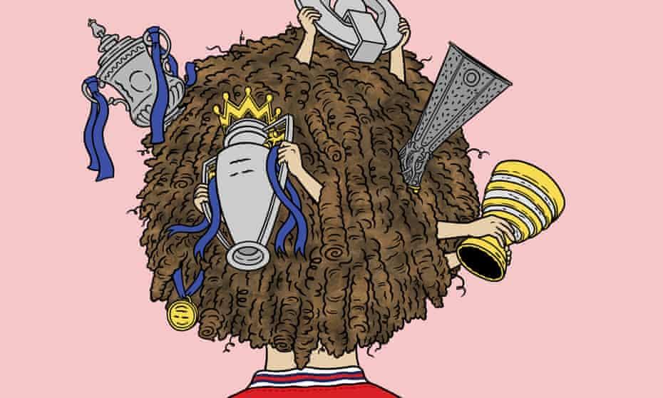 Illustration by Matt Johnstone for Barney Ronay column on Arsenal's new signing David Luiz