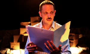 E James Ford as Billy in Private Manning Goes to Washington at the Space at Niddry Street, Edinburgh.