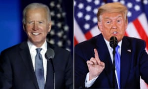 Joe Biden and Donald Trump, locked in a tense finale to the election campaign.