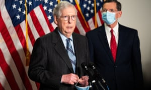 Mitch McConnell speaks at a Republican Senate leadership press conference.