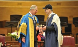 Prince Charles and Steve Reich at the Royal College of Music