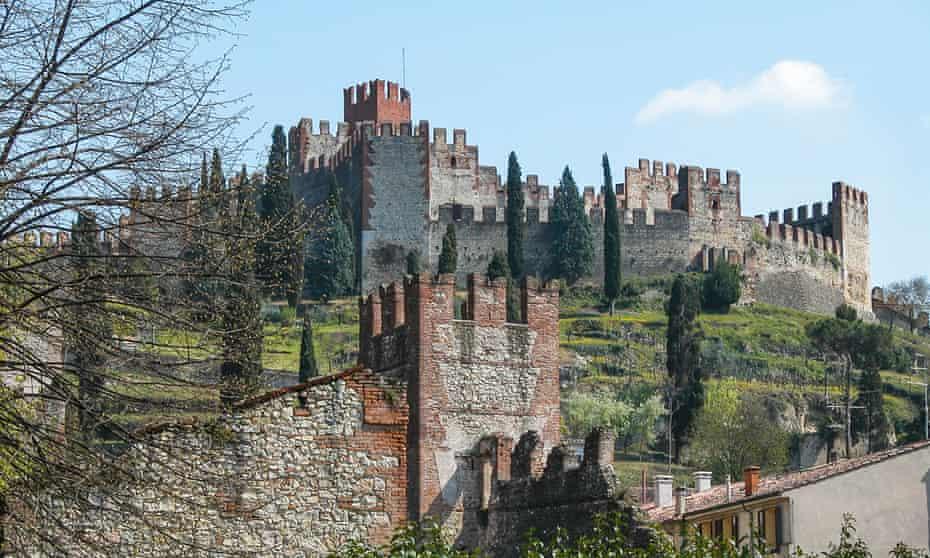 Soave castle, Verona, Italy.