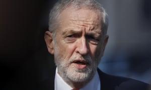 British Labour party leader Jeremy Corbyn.