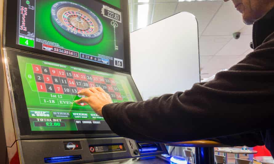A fixed odds roulette machine in a bookmakers.