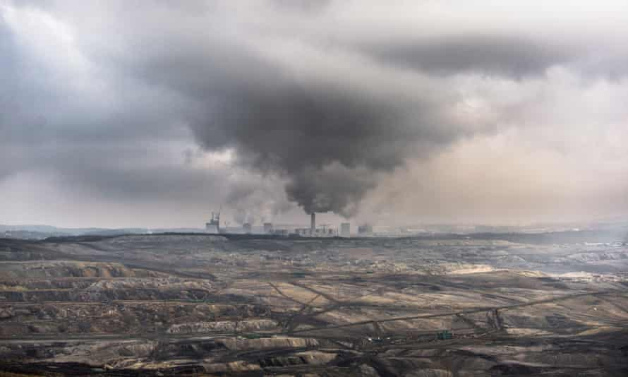 A lignite-fired power station in Bogatynia, Poland