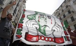 'Free Algeria' banner