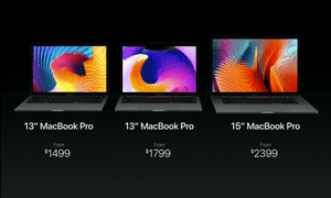 Prices for the MacBook Pros.