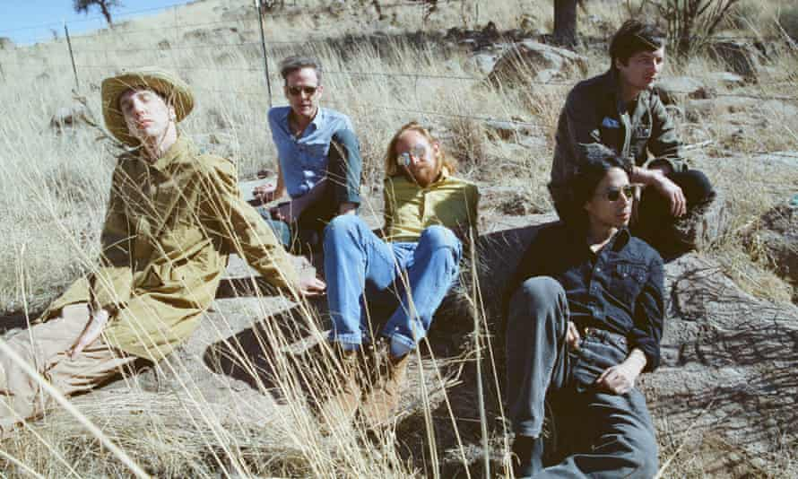 'I'm basically trying to take a zeitgeist and run with it' ... Deerhunter, with Bradford Cox (far left).