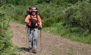 Hiker on a trail in the Willmore Wilderness Park Canada. The group Save MEC had amassed more than 100,000 signatures on a petition and raised nearly C$75,000 to cover legal costs.