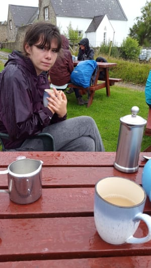 "<strong>Wales<br><br><br></strong>This picture has it all. Rain. Cold. Insipid tea. Disappointment.<br><br>""My sister Milly on Bardsey Island enjoying a wet, cold cup of tea outside after walking around the island in the rain.""<br><br>Photograph: <a href=""https://witness.theguardian.com/assignment/55b6038de4b0a4260de253c7/1638384"">Finn Price</a><a>/GuardianWitness</a>"
