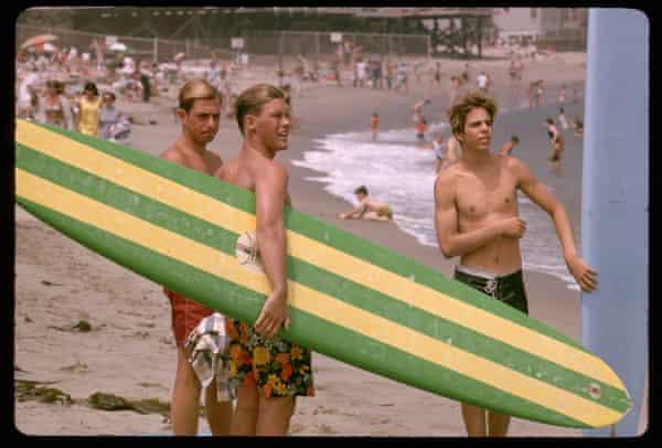 Surfers in Malibu, 1965.