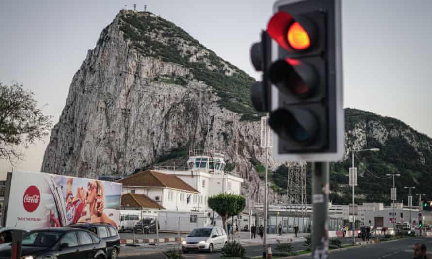 The border crossing between Spain and Gibraltar