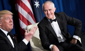 Donald Trump, left, and Malcolm Turnbull