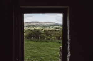 The view from the prayer barn looking over to Penhill