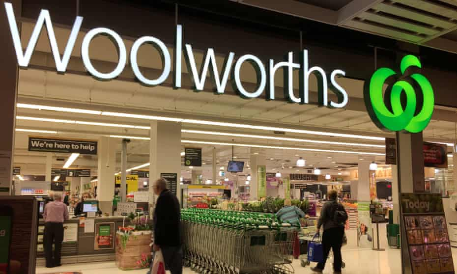 Entrance to a Woolworths store