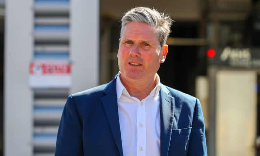 The Labour leader, Keir Starmer, said the party's investment in secure low-carbon jobs would have knock-on effects across the economy.