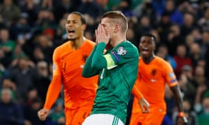 Steven Davis reacts after missing his first-half penalty.