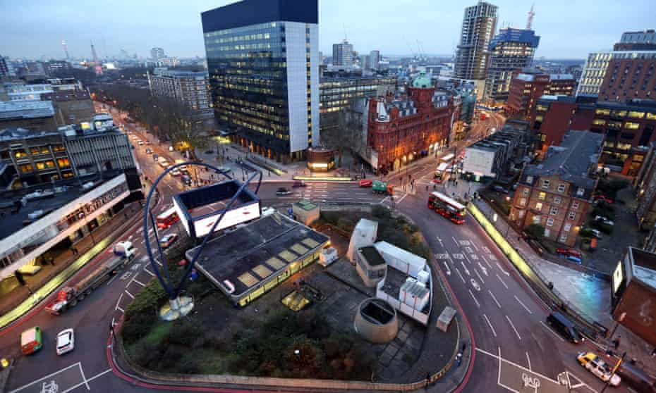 Old Street roundabout, the centre of London's tech community.
