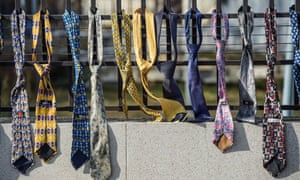 Ties hanged on the fence of the Kosovo government headquarters in Pristina in December – a sign of protest against Kosovo's prime minister's decision to raise government salaries