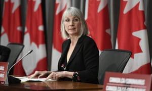 Canadian health minister Patty Hadju.