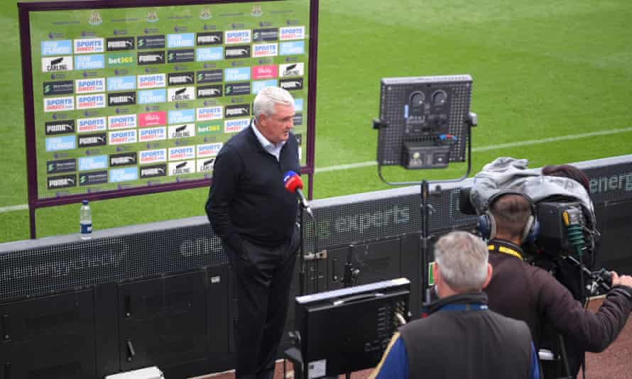 Newcastle's manager Steve Bruce after the win against Sheffield United