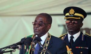 The Zimbabwean president, Robert Mugabe