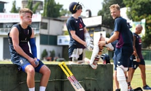 Joe Root (right) and the England squad are in Colombo preparing for the Test series against Sri Lanka.