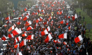 An anti-government demonstration in the centre of Manama, the capital of Bahrain, in 2011.