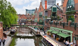 The canal at Brindley Place, Birmingham.