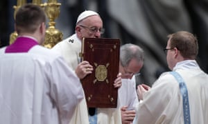 Pope Francis called for the church to renew its commitment to preventing 'these atrocities in our midst'.