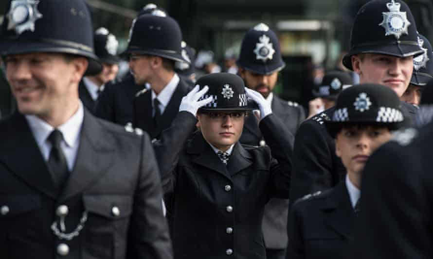 Police cadets at Hendon police college