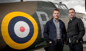 Colin and Ewan McGregor, with a Hawker Hurricane.