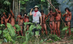 Eli Roth and members of the tribe
