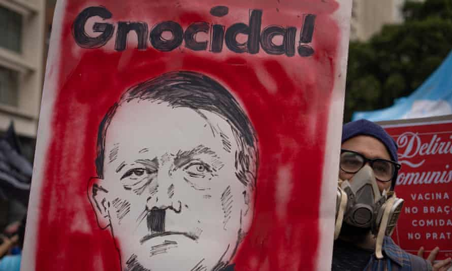 Placard from the demonstration in Rio de Janeiro on Saturday.