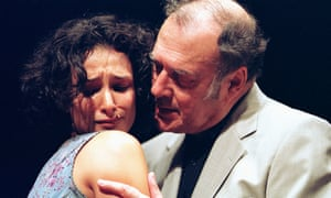 Rising fear … Indira Varma and Harold Pinter in One for the Road at the Gate, Dublin.