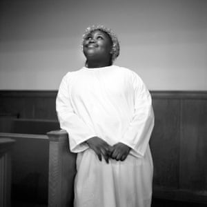 A young girl stands for a portrait dressed as an angel following the First Baptist Church of Mound Bayou's Christmas Eve celebration in 2010