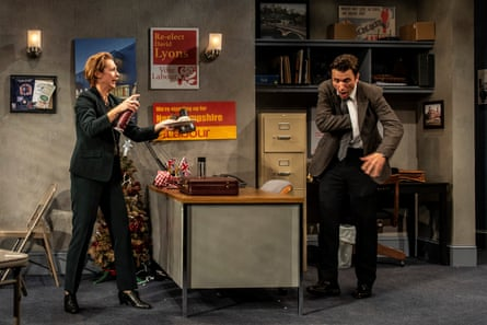 Julia Coffey and M Scott McLean in James Graham's 2017 drama Labour of Love, staged at the Olney Theatre Center, Maryland.