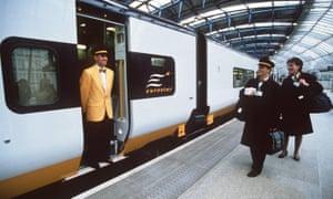 Eurostar staff at Waterloo.
