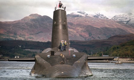 A Trident-class nuclear submarine.