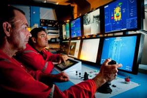 Workers on Nautilus Minerals' deep sea mining off Papua New Guinea coast