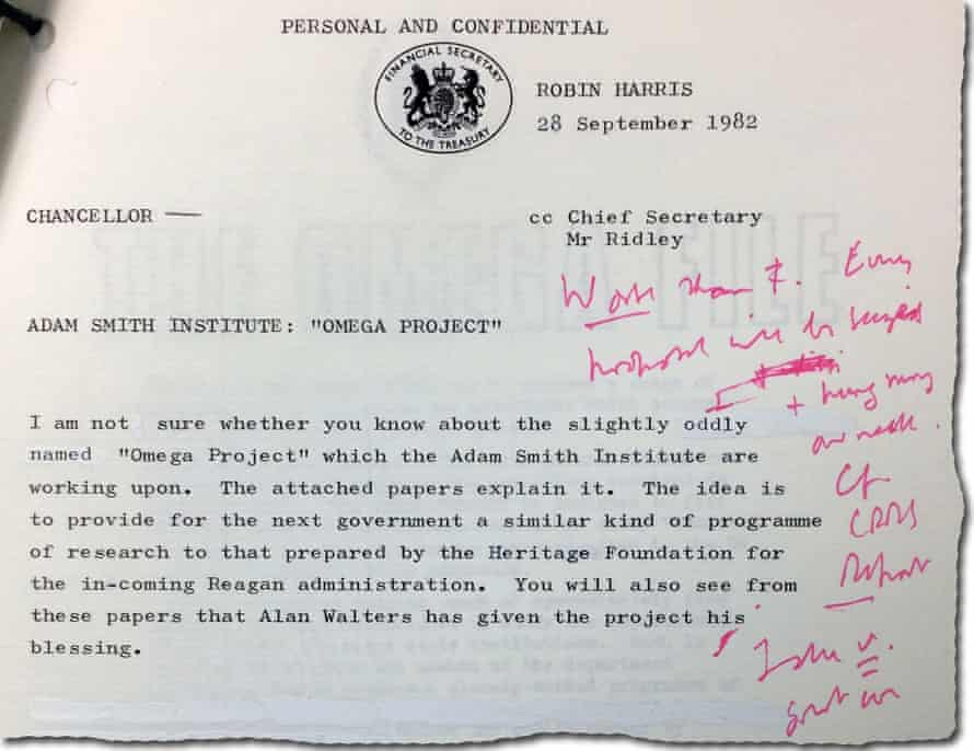 Chancellor - Adam Smith Institue - Ragout from 1982