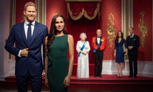 Madame Tussauds was quick to distance its figures of the Duke and Duchess of Sussex from its royal family set last week.