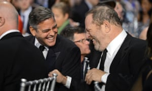 George Clooney and Harvey Weinstein at the Critics' Choice movie awards 2013.