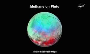 Methane revealed on the dwarf planet.