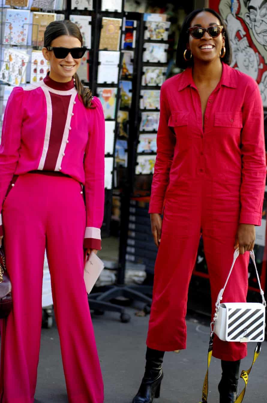 Colour blocking at Paris fashion week.
