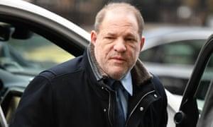 Harvey Weinstein arrives to court in New York City on Wednesday.