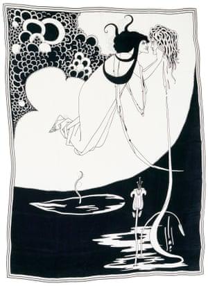 I kiss thy lips … one of Beardsley's Salomé illustrations.