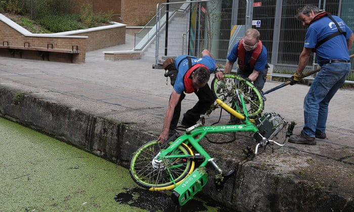 Cycle hire firms urged to help clear dumped bikes from
