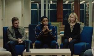 Tim Roth, Kelvin Harrison Jr and Naomi Watts in Luce